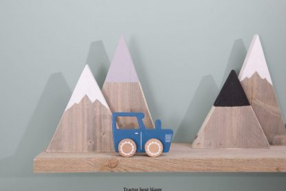 Tractor hout blauw