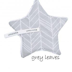 Speendoekje - grey leaves