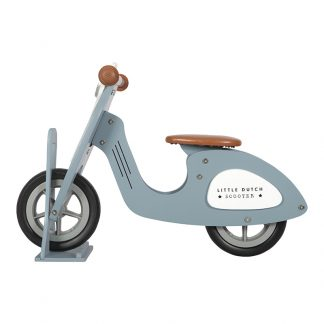 Little Dutch scooter blauw met standaard