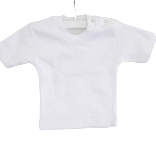 T-shirt kind korte mouw wit