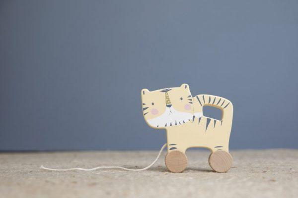 Little Dutch houten trekdier tijger