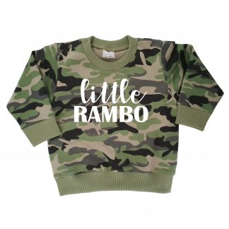 TMHD Camo_Sweater groen Little Rambo