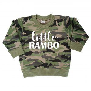 TMHD Camo_Sweater groen Little Rambo