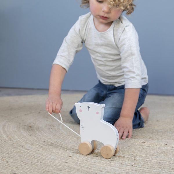 Little Dutch Houten trekdier ijsbeer